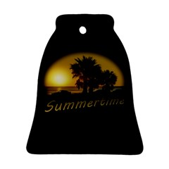 Sunset Scene at the Coast of Montevideo Uruguay Bell Ornament (2 Sides)