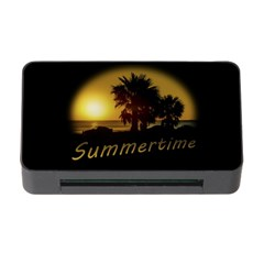 Sunset Scene At The Coast Of Montevideo Uruguay Memory Card Reader With Cf