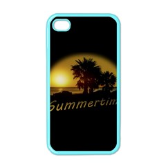 Sunset Scene at the Coast of Montevideo Uruguay Apple iPhone 4 Case (Color)