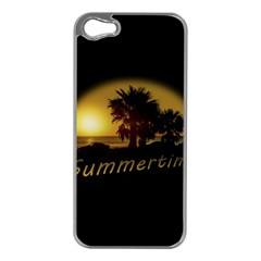 Sunset Scene at the Coast of Montevideo Uruguay Apple iPhone 5 Case (Silver)
