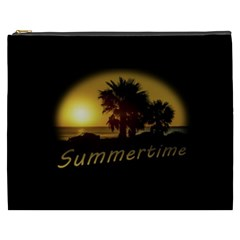 Sunset Scene at the Coast of Montevideo Uruguay Cosmetic Bag (XXXL)