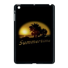 Sunset Scene at the Coast of Montevideo Uruguay Apple iPad Mini Case (Black)