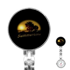 Sunset Scene at the Coast of Montevideo Uruguay Stainless Steel Nurses Watches