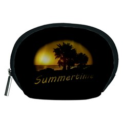 Sunset Scene at the Coast of Montevideo Uruguay Accessory Pouches (Medium)
