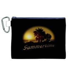 Sunset Scene at the Coast of Montevideo Uruguay Canvas Cosmetic Bag (XL)