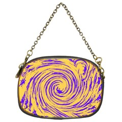 Purple And Orange Swirling Design Chain Purses (Two Sides)