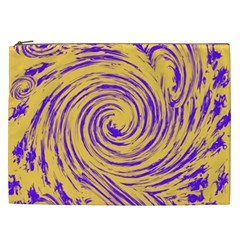 Purple And Orange Swirling Design Cosmetic Bag (XXL)
