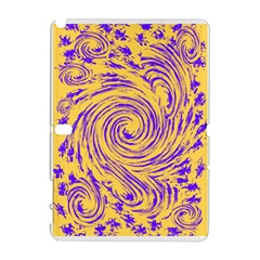 Purple And Orange Swirling Design Samsung Galaxy Note 10.1 (P600) Hardshell Case
