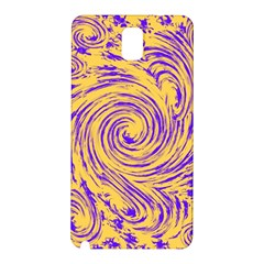 Purple And Orange Swirling Design Samsung Galaxy Note 3 N9005 Hardshell Back Case