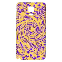 Purple And Orange Swirling Design Galaxy Note 4 Back Case
