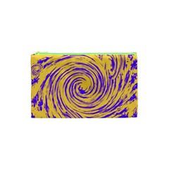 Purple And Orange Swirling Design Cosmetic Bag (XS)