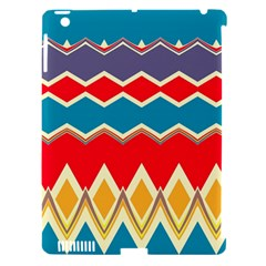 Chevrons And Rhombusapple Ipad 3/4 Hardshell Case (compatible With Smart Cover)