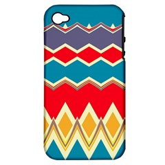 Chevrons and rhombusApple iPhone 4/4S Hardshell Case (PC+Silicone)