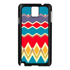 Chevrons and rhombusSamsung Galaxy Note 3 N9005 Case (Black)