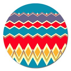 Chevrons and rhombus			Magnet 5  (Round)
