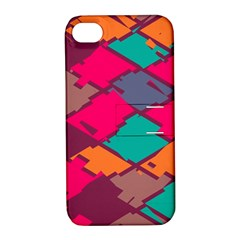 Pieces in retro colorsApple iPhone 4/4S Hardshell Case with Stand