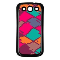 Pieces in retro colorsSamsung Galaxy S3 Back Case (Black)
