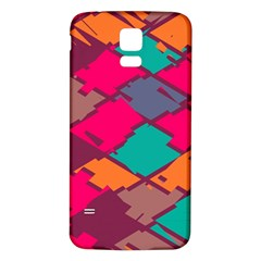 Pieces in retro colors			Samsung Galaxy S5 Back Case (White)