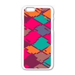 Pieces in retro colorsApple iPhone 6/6S White Enamel Case