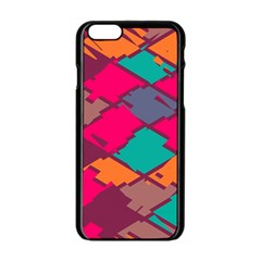 Pieces in retro colors			Apple iPhone 6/6S Black Enamel Case