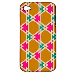 Connected shapes patternApple iPhone 4/4S Hardshell Case (PC+Silicone)