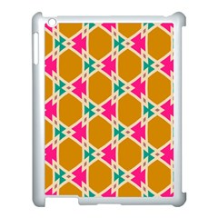 Connected shapes patternApple iPad 3/4 Case (White)