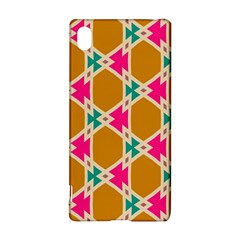 Connected shapes patternSony Xperia Z3+ Hardshell Case
