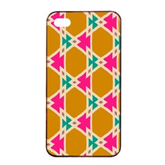 Connected shapes patternApple iPhone 4/4s Seamless Case (Black)