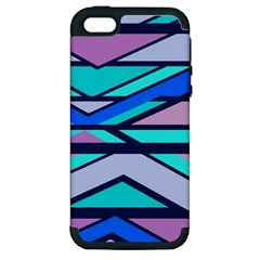 Angles and stripesApple iPhone 5 Hardshell Case (PC+Silicone)