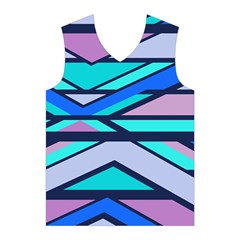 Angles and stripes Men s Basketball Tank Top