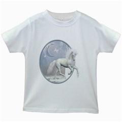 White Unicorn 1 Kids' T-shirt (White)