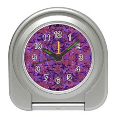 Intricate Patterned Textured  Travel Alarm Clocks