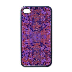 Intricate Patterned Textured  Apple iPhone 4 Case (Black)