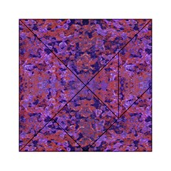 Intricate Patterned Textured  Acrylic Tangram Puzzle (6  x 6 )