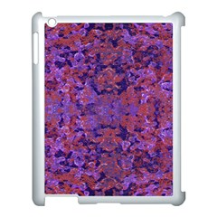 Intricate Patterned Textured  Apple iPad 3/4 Case (White)
