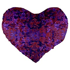 Intricate Patterned Textured  Large 19  Premium Heart Shape Cushions