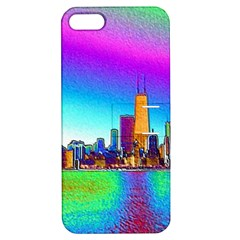 Chicago Colored Foil Effects Apple iPhone 5 Hardshell Case with Stand
