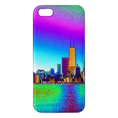 Chicago Colored Foil Effects Apple iPhone 5 Premium Hardshell Case