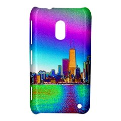 Chicago Colored Foil Effects Nokia Lumia 620