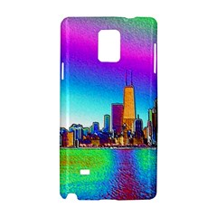 Chicago Colored Foil Effects Samsung Galaxy Note 4 Hardshell Case