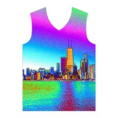 Chicago Colored Foil Effects Men s Basketball Tank Top
