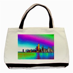 Chicago Colored Foil Effects Basic Tote Bag