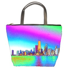 Chicago Colored Foil Effects Bucket Bags