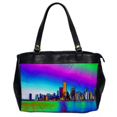 Chicago Colored Foil Effects Office Handbags