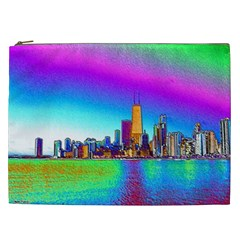 Chicago Colored Foil Effects Cosmetic Bag (XXL)