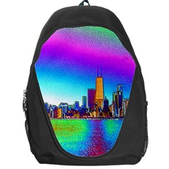 Chicago Colored Foil Effects Backpack Bag