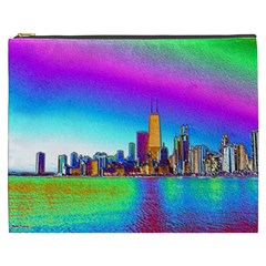 Chicago Colored Foil Effects Cosmetic Bag (XXXL)
