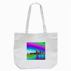 Chicago Colored Foil Effects Tote Bag (white)