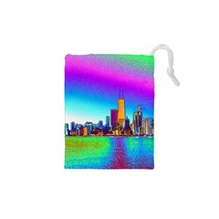 Chicago Colored Foil Effects Drawstring Pouches (xs)