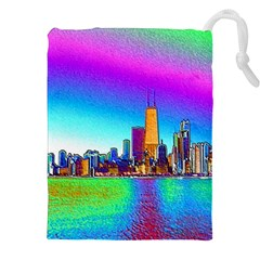 Chicago Colored Foil Effects Drawstring Pouches (xxl)